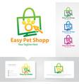 pet shop logo designs vector image vector image