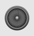 plane engine turbine template vector image