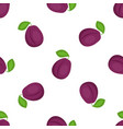 plum seamless pattern organic vegetarian food vector image