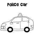 Police car art vector image vector image