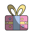present gift to celebrate special day vector image vector image