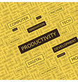 PRODUCTIVITY vector image vector image