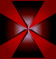 Red background geometric vector image vector image
