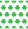 seamless pattern with trefoil clover vector image vector image