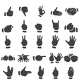 set of desture icons vector image vector image