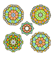 set of five abstract ornament sacred mandalas vector image vector image