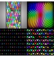 Set of texture many small brightly colored figures vector image vector image