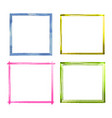 set watercolor color grunge frames vector image vector image