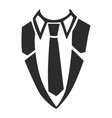 shirt necktie icon simple style vector image