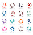 spiral design elements vector image vector image