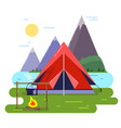 summer camping background vector image vector image