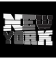 T shirt New York black white gray vector image vector image