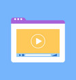 tablets window with video tutorial of website vector image