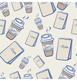 Takeaway coffee and paper packets vector image vector image