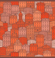 urban seamless pattern with old colored houses vector image