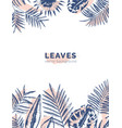 vertical background with borders made of jungle vector image vector image