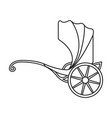 vintage carriage iconoutline line vector image vector image