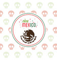 viva mexico invitation party emblem vector image vector image