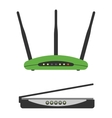 Wi-fi modem router isolated vector image