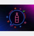wine bottle line icon merlot or cabernet vector image vector image