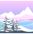 winter snow four seasons nature landscape vector image vector image