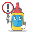 with sign glue bottle character cartoon vector image