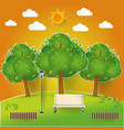natural landscape in pop up paper cut style vector image
