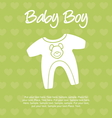 Baby boy card vector image