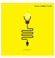 Creative light bulb with wifi connection icons vector image