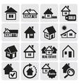 Real estate set vector image
