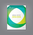 Abstract annual report cover flyer poster vector image