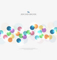 abstract corporate tone colorful circle bubble vector image