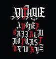 antique font set capital letters english vector image