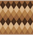 argyle pattern brown rhombus seamless texture vector image vector image