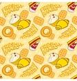 Bakery seamless pattern beautiful holiday vector image vector image