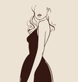beautiful woman hand drawn vector image vector image