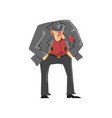 brutal gangster criminal character in a suit and vector image vector image
