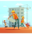 Building And Construction Industry vector image vector image