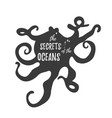 calamary vintage logo template with text vector image