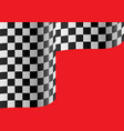 checkered flag wave on red vector image
