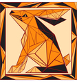 Chinese horoscope stylized stained glass rabbit vector image