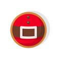christmas round cookie santa belt vector image vector image