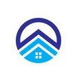 circle house roabstract business company logo vector image vector image