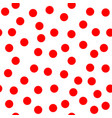 circle red seamless pattern vector image vector image