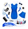 collage fashion female accessories vector image