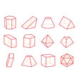 cube and cone with flat top vector image vector image