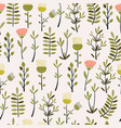 cute hand drawn plant seamless pattern vector image vector image