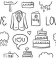 doodle of wedding style hand draw vector image vector image