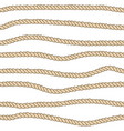endless nautical rope pattern hand drawn vector image vector image