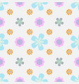 floral seamless pattern in doodle style with vector image vector image